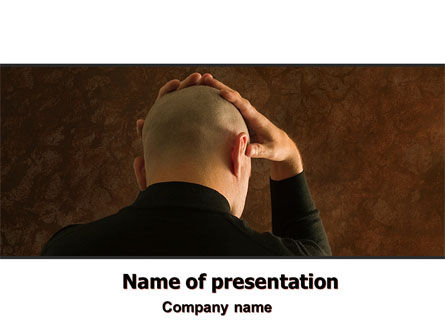 Hard Thoughts PowerPoint Template, 06258, Consulting — PoweredTemplate.com
