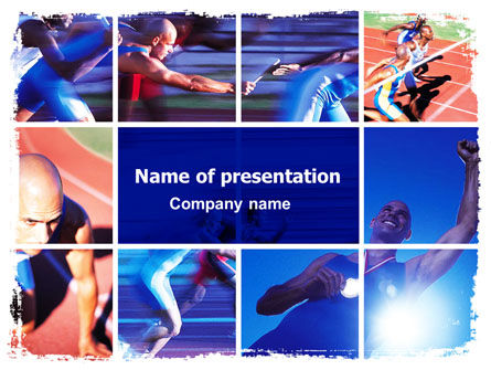 Athlete PowerPoint Template, 06260, Sports — PoweredTemplate.com