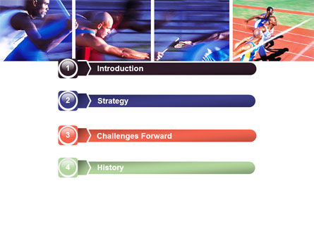 Athlete PowerPoint Template, Slide 3, 06260, Sports — PoweredTemplate.com