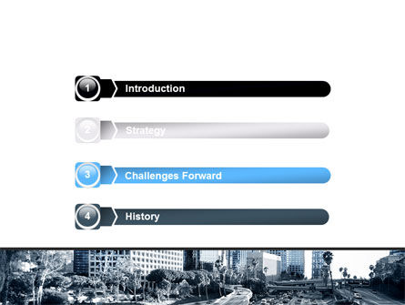 City Highway PowerPoint Template, Slide 3, 06261, Cars and Transportation — PoweredTemplate.com