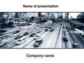 Cars and Transportation: City Highway PowerPoint Template #06261
