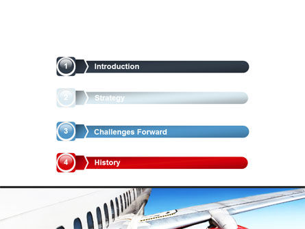 Commercial Airliner In Flight PowerPoint Template, Slide 3, 06263, Cars and Transportation — PoweredTemplate.com