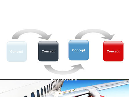 Commercial Airliner In Flight PowerPoint Template, Slide 4, 06263, Cars and Transportation — PoweredTemplate.com