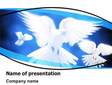 Religious/Spiritual: Flying Doves PowerPoint Template #06264