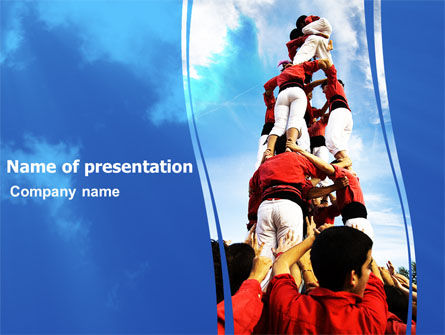 Holiday/Special Occasion: Climbing PowerPoint Template #06266