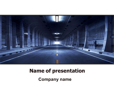 Underground Tunnel PowerPoint Template, 06267, Construction — PoweredTemplate.com