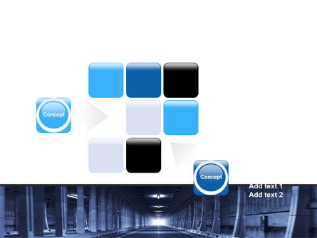 Underground Tunnel PowerPoint Template Slide 16