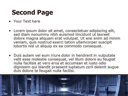 Underground Tunnel PowerPoint Template Slide 2