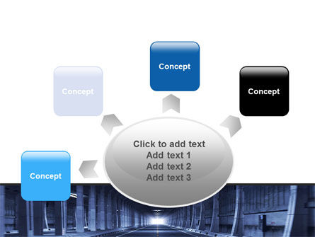 Underground Tunnel PowerPoint Template Slide 7