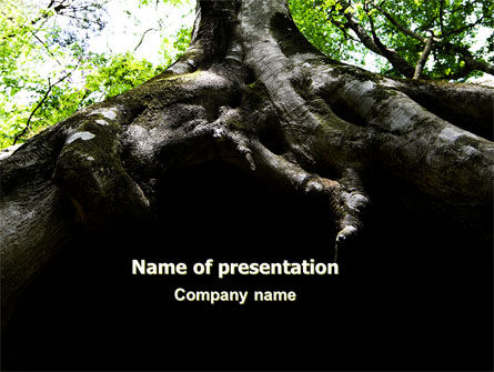 Tree Root PowerPoint Template, 06268, Nature & Environment — PoweredTemplate.com