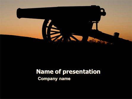 Military: Alamo Sunset PowerPoint Template #06269