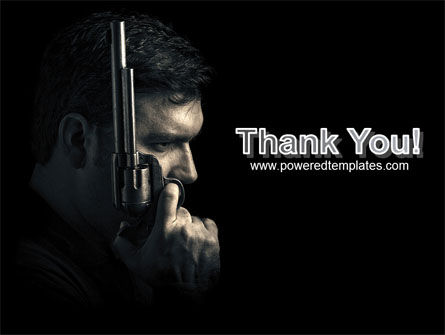 Man with a Gun PowerPoint Template Slide 20