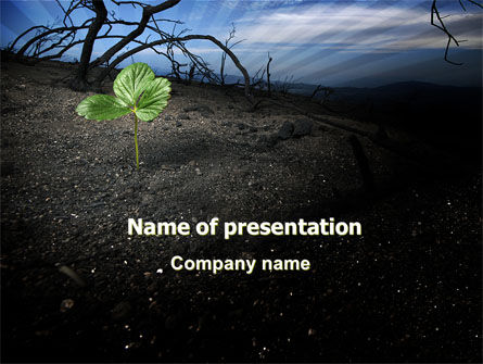 Sprig PowerPoint Template, 06271, Nature & Environment — PoweredTemplate.com