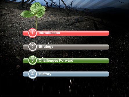 Sprig PowerPoint Template, Slide 3, 06271, Nature & Environment — PoweredTemplate.com