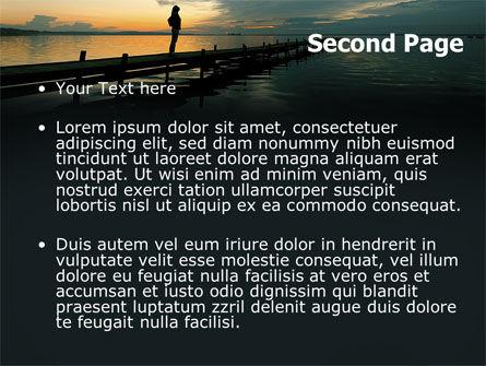 Sunset On The Sea PowerPoint Template, Slide 2, 06274, Religious/Spiritual — PoweredTemplate.com