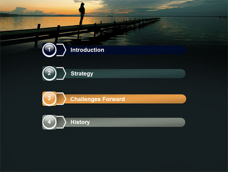 Sunset On The Sea PowerPoint Template Slide 3