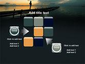 Sunset On The Sea PowerPoint Template#16