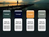 Sunset On The Sea PowerPoint Template#5