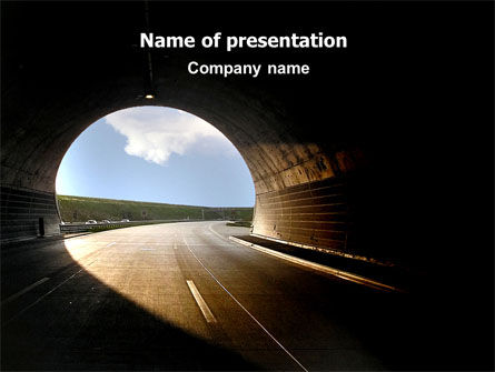 Construction: Automobile Tunnel PowerPoint Template #06275