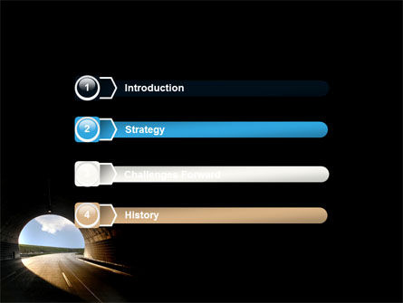 Automobile Tunnel PowerPoint Template, Slide 3, 06275, Construction — PoweredTemplate.com