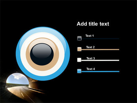 Automobile Tunnel PowerPoint Template Slide 9