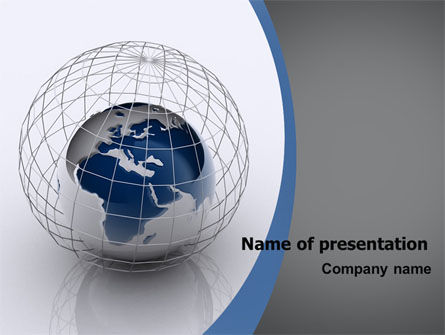 World Outlook PowerPoint Template, 06277, Global — PoweredTemplate.com