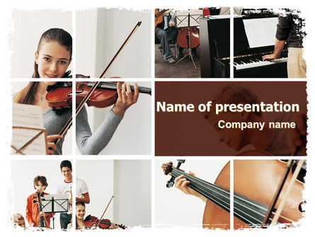 Musical School PowerPoint Template, 06279, Careers/Industry — PoweredTemplate.com