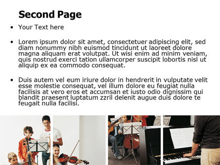 Musical School PowerPoint Template, Slide 2, 06279, Careers/Industry — PoweredTemplate.com