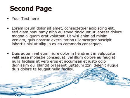 Water Splash PowerPoint Template, Slide 2, 06280, Nature & Environment — PoweredTemplate.com