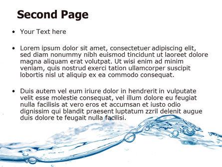 Water Splash PowerPoint Template, Slide 2, 06280, Nature & Environment — PoweredTemplate.com