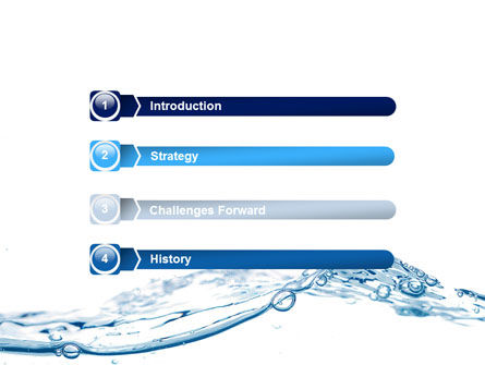 Water Splash PowerPoint Template, Slide 3, 06280, Nature & Environment — PoweredTemplate.com