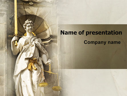 Art & Entertainment: Lady Justice PowerPoint Template #06281