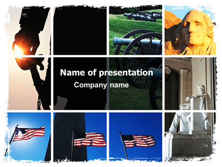 American Revolution PowerPoint Template, 06282, America — PoweredTemplate.com