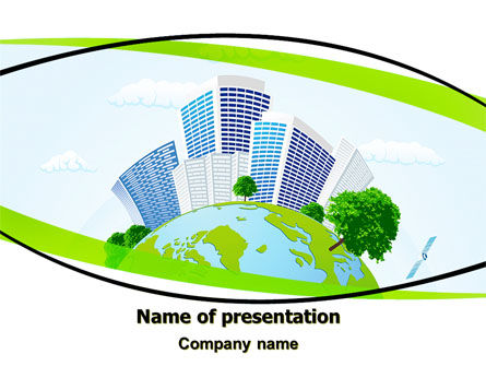 Green City PowerPoint Template, 06283, Nature & Environment — PoweredTemplate.com