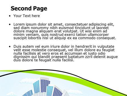 Green City PowerPoint Template, Slide 2, 06283, Nature & Environment — PoweredTemplate.com