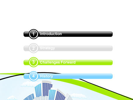 Green City PowerPoint Template, Slide 3, 06283, Nature & Environment — PoweredTemplate.com