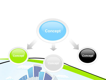 Green City PowerPoint Template, Slide 4, 06283, Nature & Environment — PoweredTemplate.com
