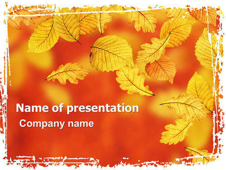 Nature & Environment: Plantilla de PowerPoint - colores de otoño #06284