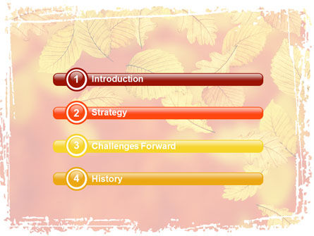 Autumn Colors PowerPoint Template, Slide 3, 06284, Nature & Environment — PoweredTemplate.com