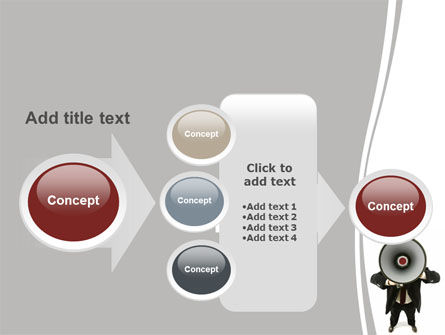 Speaker With Megaphone PowerPoint Template Slide 17
