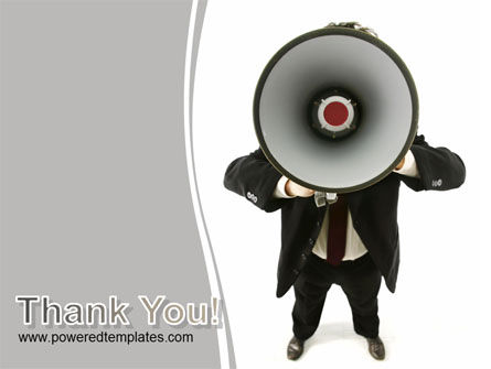 Speaker With Megaphone PowerPoint Template Slide 20