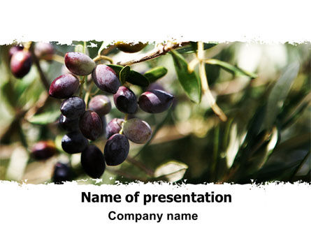Olive PowerPoint Template, 06286, Agriculture — PoweredTemplate.com