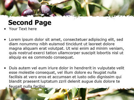 Olive PowerPoint Template, Slide 2, 06286, Agriculture — PoweredTemplate.com