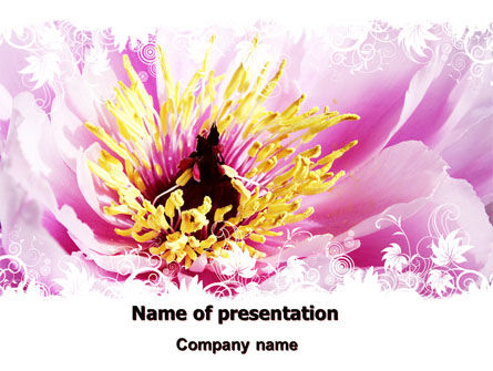 Blooming Flower PowerPoint Template, 06291, Holiday/Special Occasion — PoweredTemplate.com