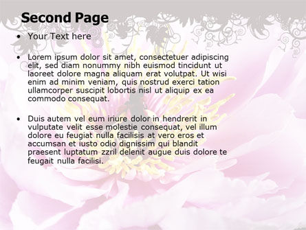 Blooming Flower PowerPoint Template Slide 2