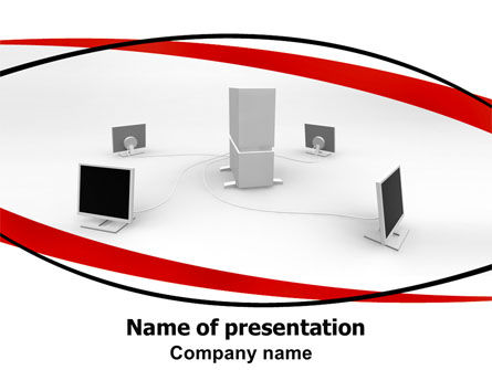 Computers: Computer Server PowerPoint Template #06293