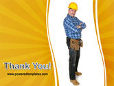 Builder With A Tool Belt PowerPoint Template#20