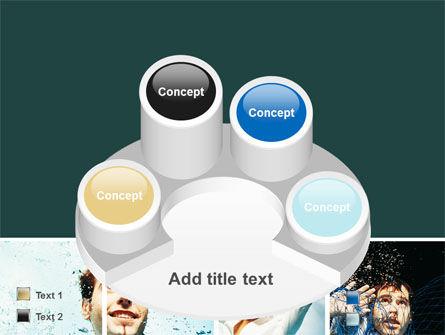 Businessmen Underwater PowerPoint Template Slide 12