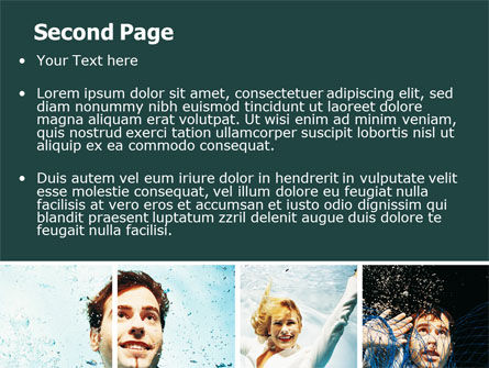 Businessmen Underwater PowerPoint Template Slide 2