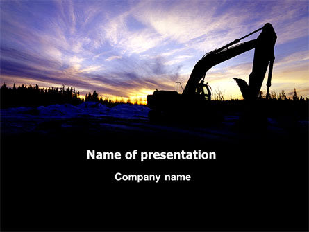 Power Shovel PowerPoint Template, 06299, Utilities/Industrial — PoweredTemplate.com